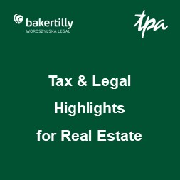 Tax & Legal Highlights for Real Estate – kwiecień 2019